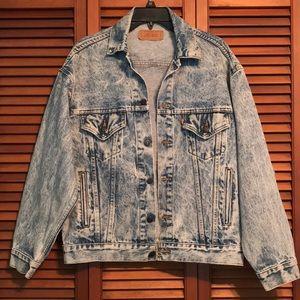 Vintage 80's Levi's Acid Wash Denim jacket
